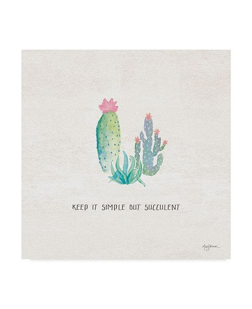 "Trademark Global Mary Urban Bohemian Cactus IX Canvas Art - 20"" x 25"""