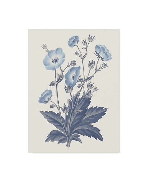 "Trademark Global Wild Apple Portfolio Blue Botanical VI Canvas Art - 20"" x 25"""