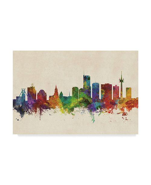 "Trademark Global Michael Tompsett Essen Germany Skyline Canvas Art - 20"" x 25"""