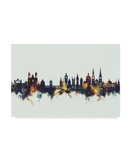 "Trademark Global Michael Tompsett Lucerne Switzerland Luzern Skyline IV Canvas Art - 20"" x 25"""