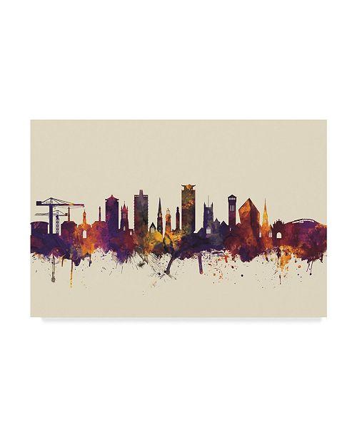 "Trademark Global Michael Tompsett Plymouth England Skyline III Canvas Art - 20"" x 25"""