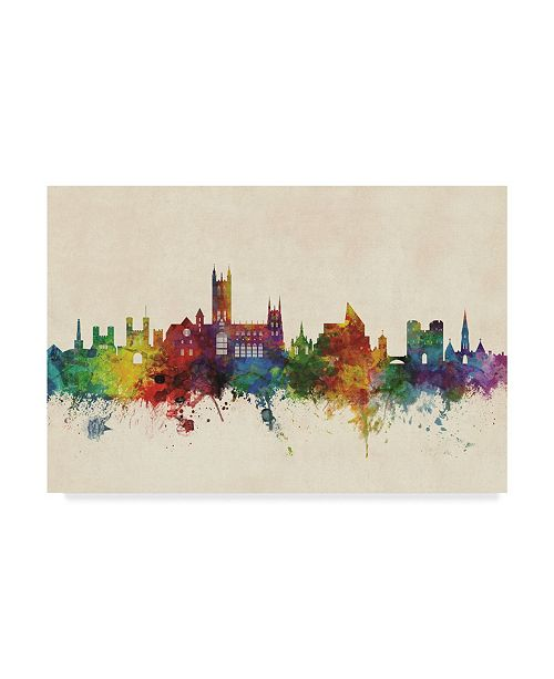 "Trademark Global Michael Tompsett Canterbury England Skyline Canvas Art - 37"" x 49"""