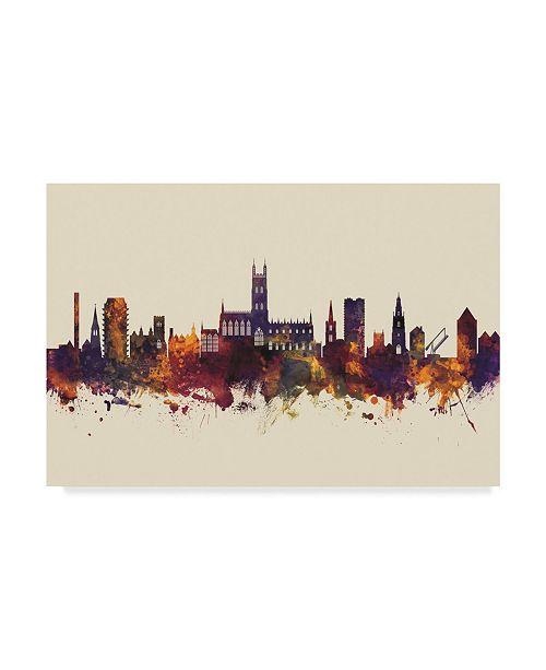 "Trademark Global Michael Tompsett Gloucester England Skyline III Canvas Art - 20"" x 25"""