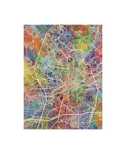 "Trademark Global Michael Tompsett Frankfurt Germany City Map Canvas Art - 20"" x 25"""
