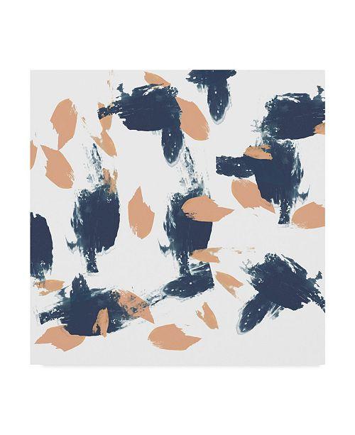 "Trademark Global Jennifer Goldberger Blueberry and Peach Strokes I Canvas Art - 27"" x 33"""