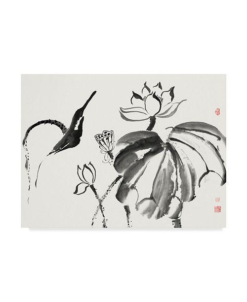 "Trademark Global Nan Rae Lotus Study I Canvas Art - 37"" x 49"""