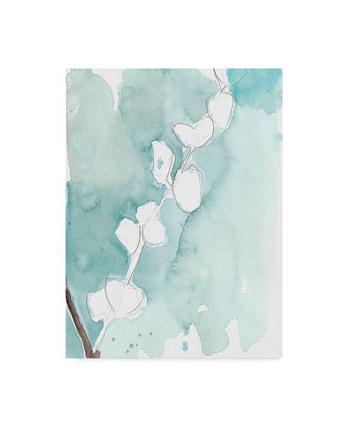 "Trademark Global Jennifer Goldberger Ginkgo on Dusty Teal V Canvas Art - 20"" x 25"""