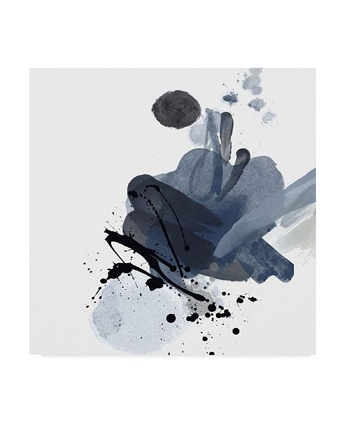 "Trademark Global Irena Orlov Blue & Black Splash I Canvas Art - 27"" x 33"""