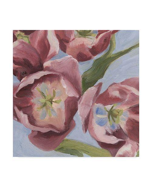 "Trademark Global Emma Scarvey Mauve Tulips I Canvas Art - 27"" x 33"""