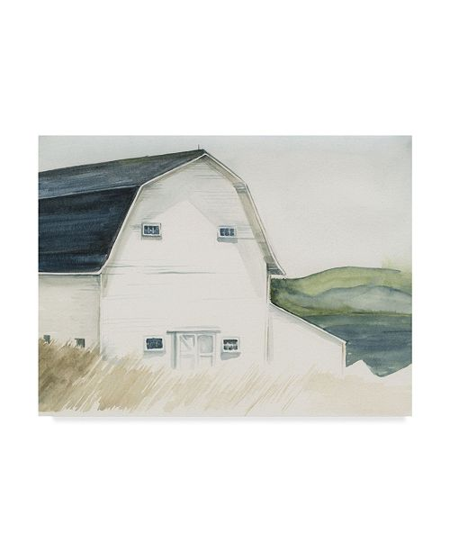 "Trademark Global Jennifer Paxton Parker Watercolor Barn IV Canvas Art - 20"" x 25"""