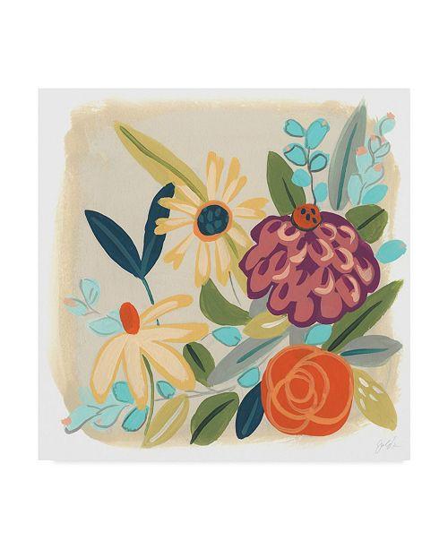 """Trademark Global June Erica Vess Pop Posy III Canvas Art - 20"""" x 25"""""""