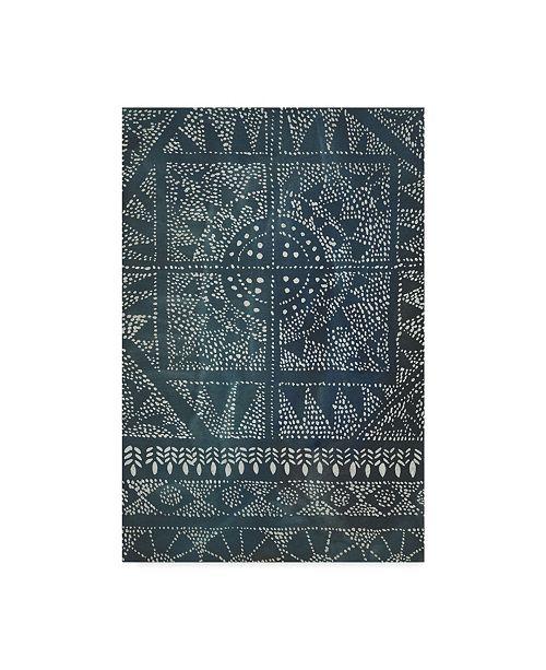 """Trademark Global Chariklia Zarris Indigo Journey II Canvas Art - 20"""" x 25"""""""