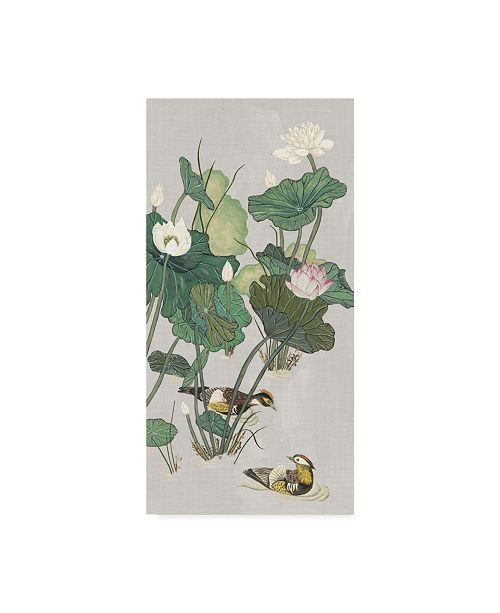"Trademark Global Melissa Wang Lotus Pond I Canvas Art - 15"" x 20"""