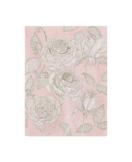"Trademark Global Melissa Wang Blooming Roses I Canvas Art - 20"" x 25"""