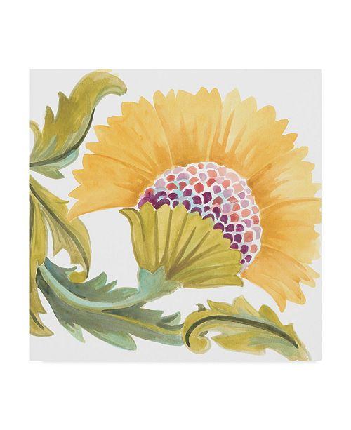 "Trademark Global June Erica Vess Abbey Floral Tiles VII Canvas Art - 15"" x 20"""