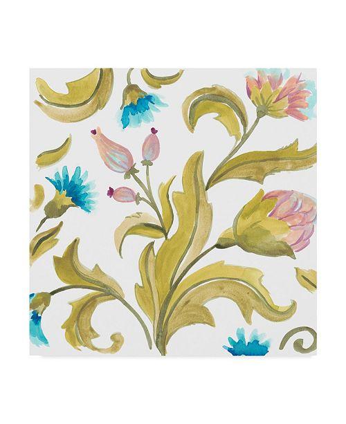 "Trademark Global June Erica Vess Abbey Floral Tiles IX Canvas Art - 27"" x 33"""