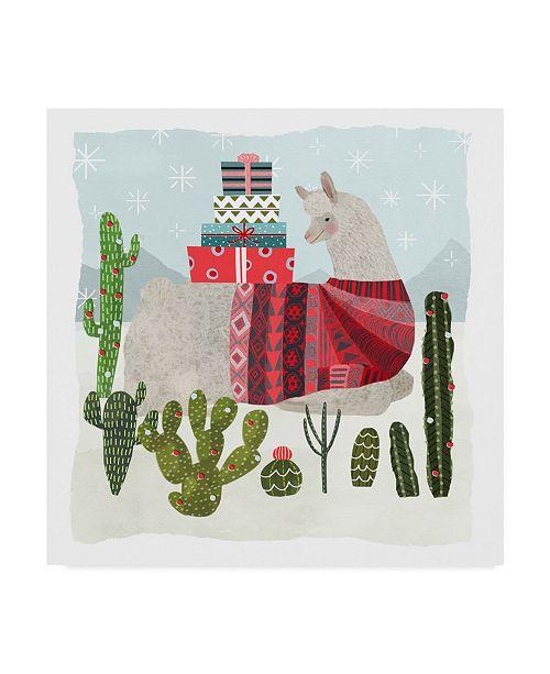 """Trademark Global Victoria Borges Holiday Llama III Canvas Art - 20"""" x 25"""""""