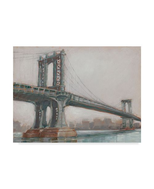 "Trademark Global Ethan Harper Spanning the East River II Canvas Art - 20"" x 25"""
