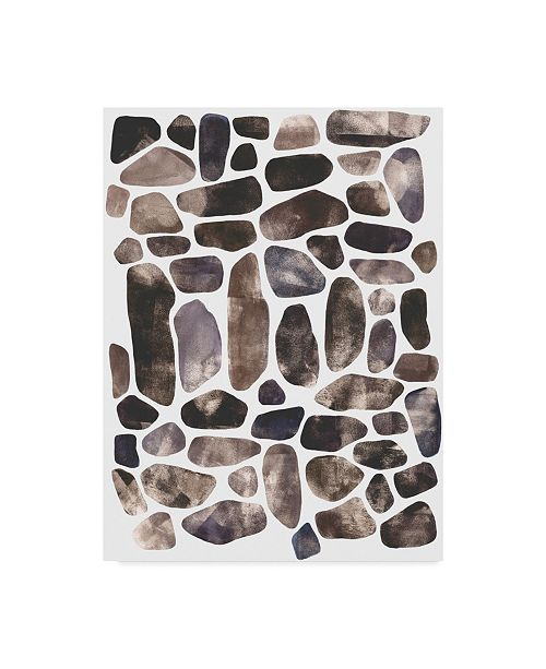 "Trademark Global Emma Scarvey Stepping Stones II Canvas Art - 15"" x 20"""