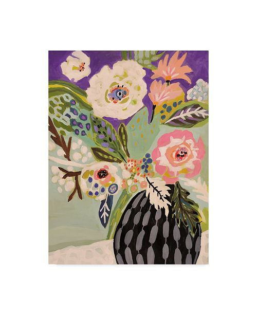 "Trademark Global Karen Fields Fresh Flowers in Vase I Canvas Art - 15"" x 20"""