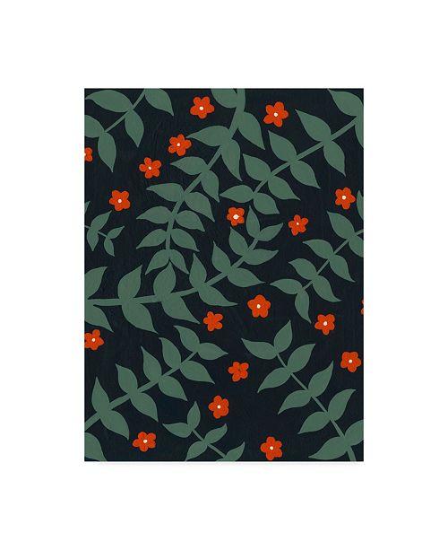 "Trademark Global Regina Moore Blooming Garden Pattern I Canvas Art - 37"" x 49"""