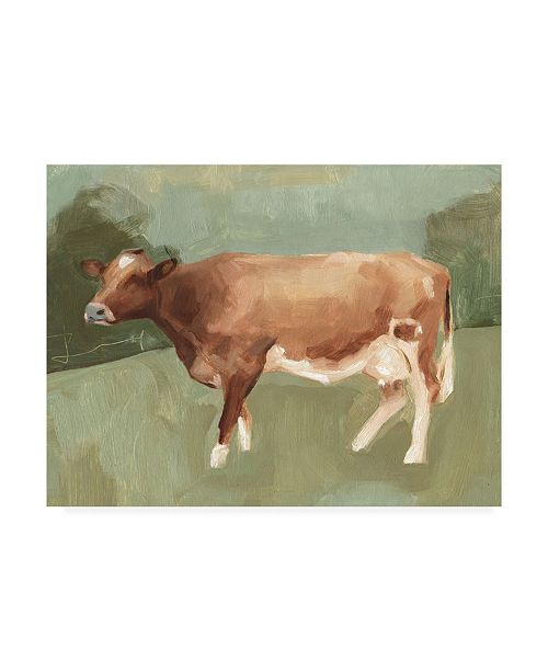 "Trademark Global Emma Scarvey Bovine Field I Canvas Art - 20"" x 25"""