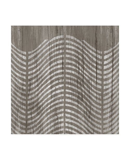 "Trademark Global June Erica Vess Weathered Wood Patterns X Canvas Art - 15"" x 20"""