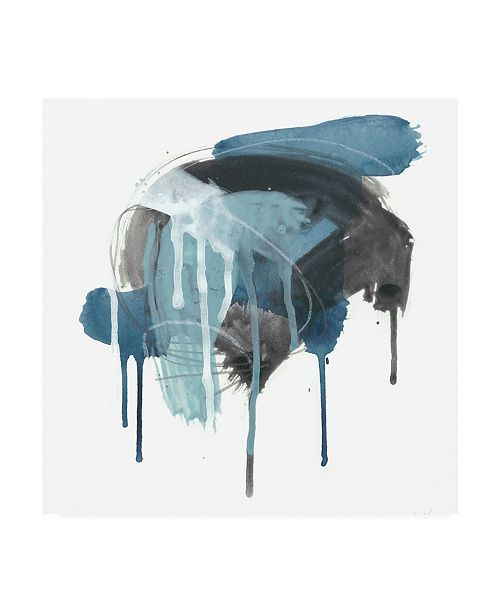 "Trademark Global June Erica Vess Incidental Indigo I Canvas Art - 15"" x 20"""