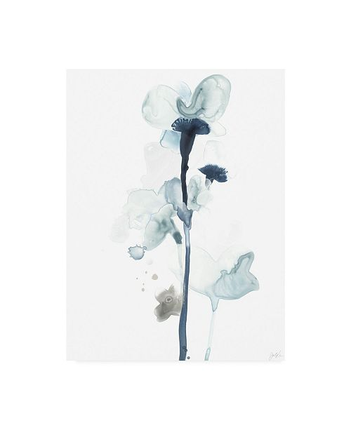"Trademark Global June Erica Vess Midnight Blossoms I Canvas Art - 15"" x 20"""