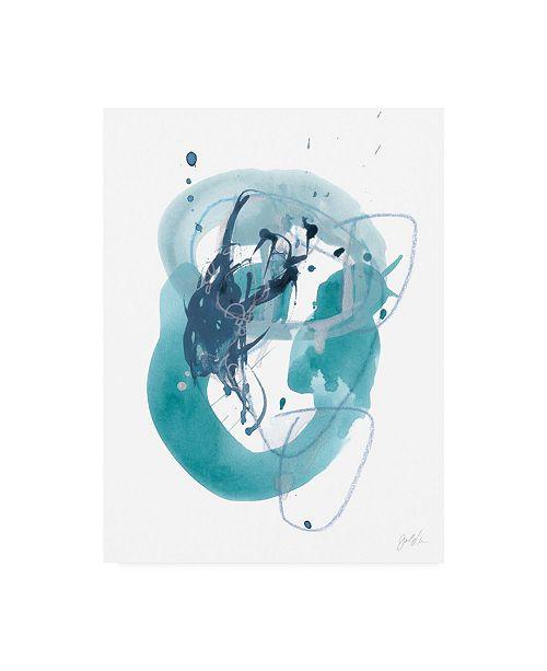 "Trademark Global June Erica Vess Aqua Orbit IV Canvas Art - 15"" x 20"""