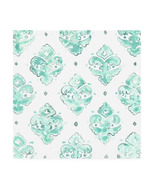 "Trademark Global June Erica Vess Bohemian Textile II Canvas Art - 15"" x 20"""