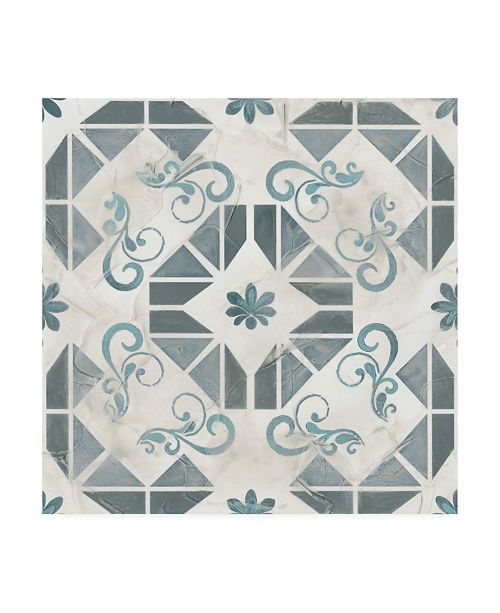 "Trademark Global June Erica Vess Teal Tile Collection VI Canvas Art - 15"" x 20"""