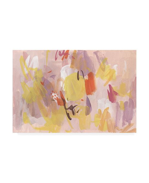 "Trademark Global Melissa Wang Pink Abstraction I Canvas Art - 20"" x 25"""