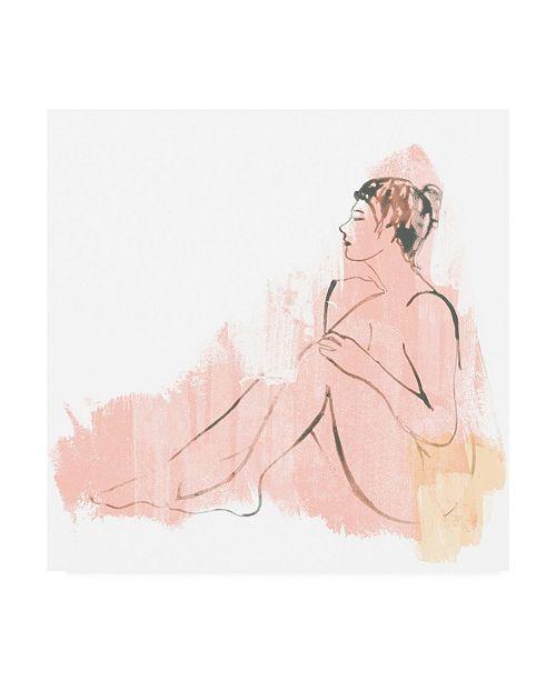 "Trademark Global June Erica Vess Color Block Figure IV Canvas Art - 15"" x 20"""