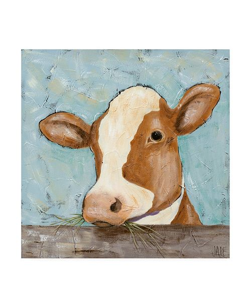 "Trademark Global Jade Reynolds Daisy Cow Canvas Art - 20"" x 25"""