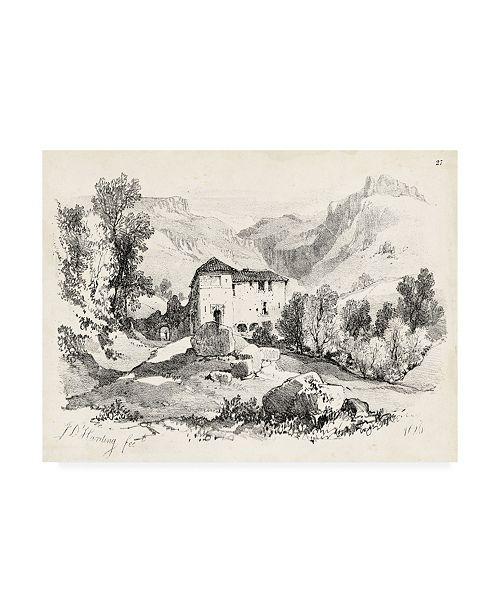 "Trademark Global J.D. Harding Idyllic Landscape IV Canvas Art - 20"" x 25"""