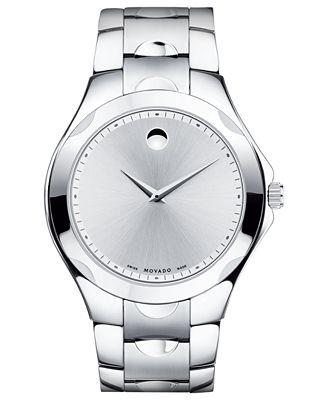 Movado Men's Swiss Luno Sport Stainless Steel Bracelet Watch 40mm 0606379