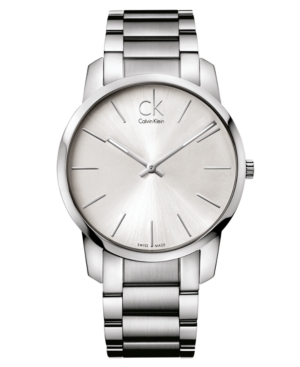 Calvin Klein Watch, Men's Swiss City Stainless Steel Bracelet 43mm K2G21126