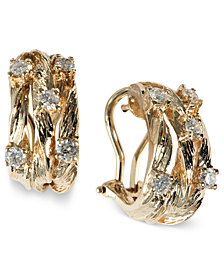 D'Oro by EFFY Diamond Vine Earrings (5/8 ct. t.w.) in 14k Gold