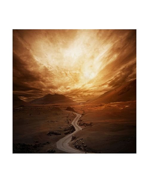 "Trademark Global PhotoINC Studio Sunset Winding Road Canvas Art - 36.5"" x 48"""