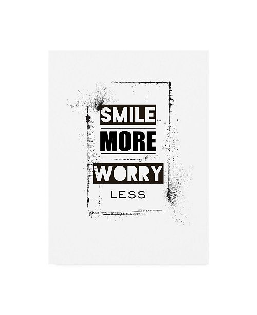 "Trademark Global TypeLike Smile Centered Canvas Art - 15.5"" x 21"""