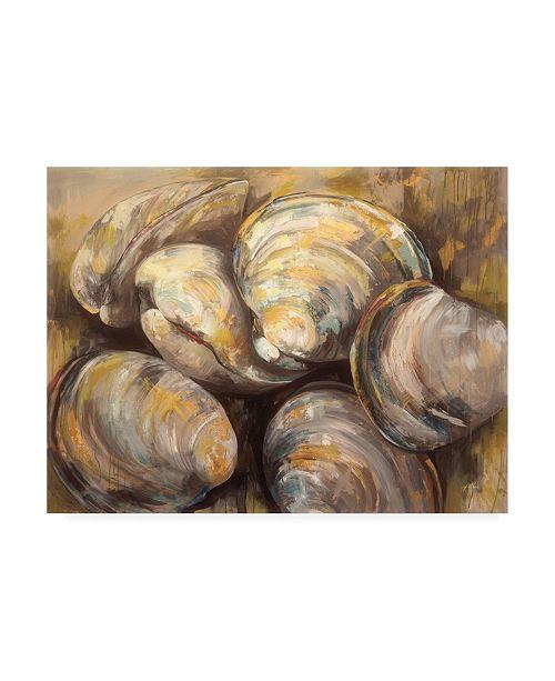 "Trademark Global Jeanette Vertentes The Gang of Quahogs Canvas Art - 19.5"" x 26"""