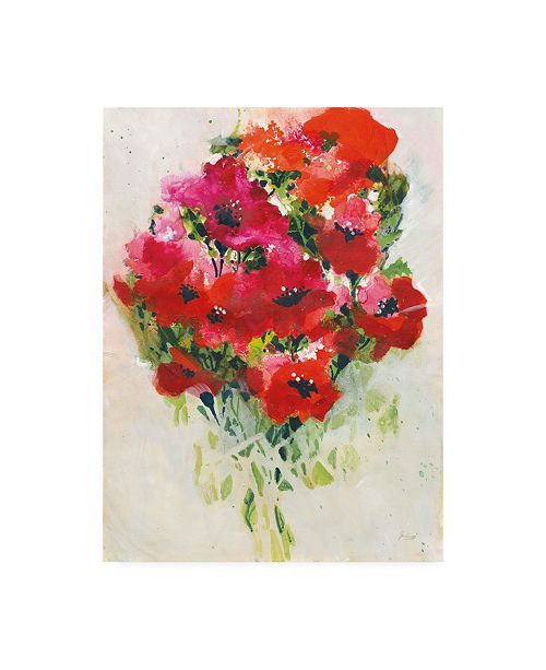 "Trademark Global Jan Griggs Poppy Bouquet Red Canvas Art - 19.5"" x 26"""