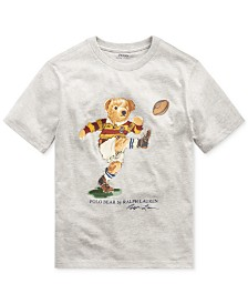 Polo Ralph Lauren Big Boys Rugby Bear Jersey Cotton T-Shirt