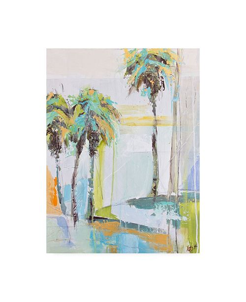 "Trademark Global Kym De Los Reyes Palm One Canvas Art - 27"" x 33.5"""