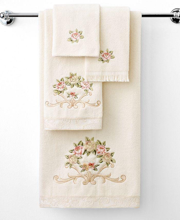 """Avanti - """"Rosefan"""" Wash Towel, 13x13"""""""