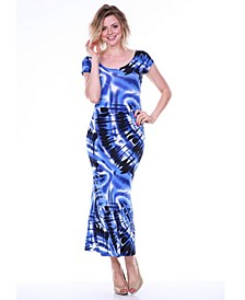 Women's Tie Dye Cut-Out Back Maxi Dress