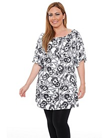 Women's Plus Size Rose Tunic Dress
