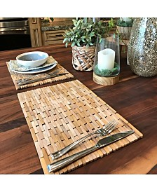 Hip-o Modern Living Teak Placemats, Set Of 2