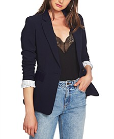 Classic Crepe One-Button Jacket